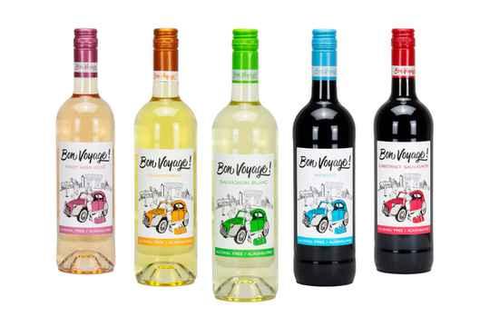 Bon Voyage Alcoholvrije Wijn Fles 75 Cl.