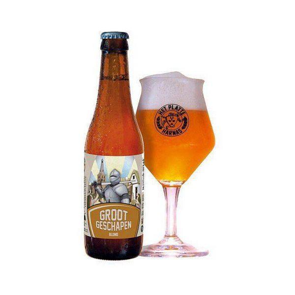 Brouwerij Het Platte Harnas Groot Geschapen Blond Fles 33 Cl.