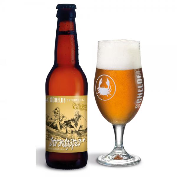 Brouwerij Schelde Strandgaper Fris Blond Fles 33 Cl.
