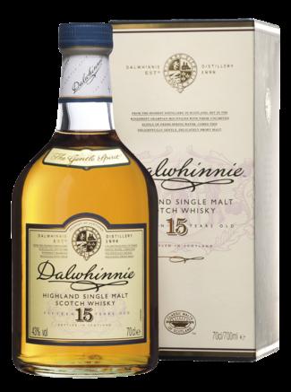 Dalwhinnie 15 Years Highland Single Malt Scotch Whisky Fles 70 Cl.