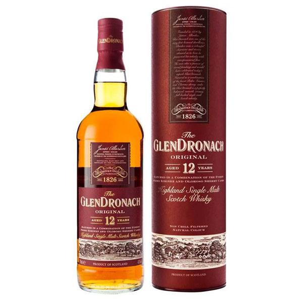 The Glendronach 12 Years Highland Single Malt Scotch Whisky Fles 70 Cl.
