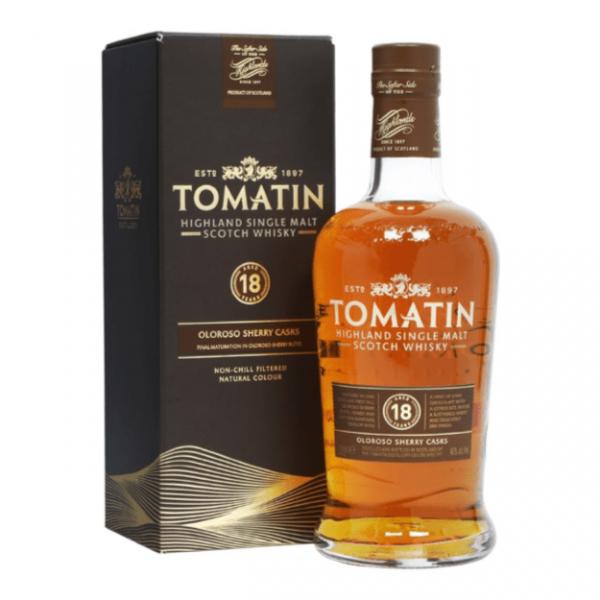 Tomatin 18 Years Highland Single Malt Scotch Whisky Fles 70 Cl.
