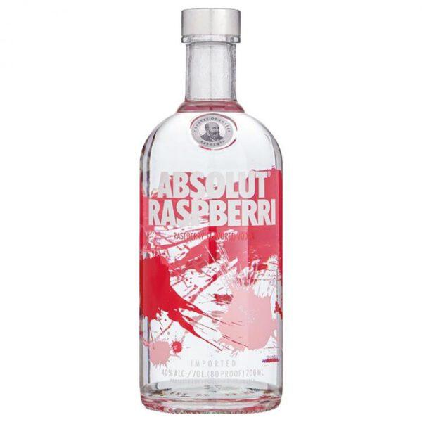 Absolut Raspberri Vodka Fles 70 Cl.