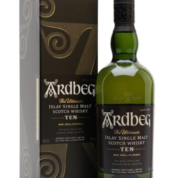 Ardbeg 10 Years Islay Single Malt Scotch Whisky Fles 70 Cl.
