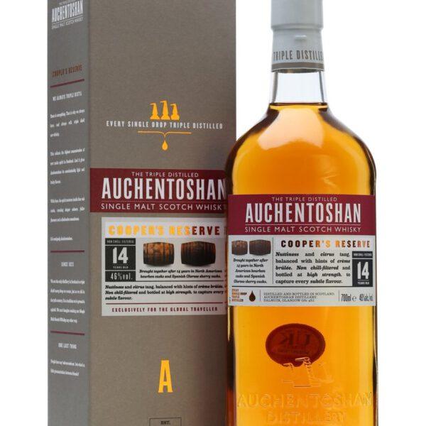 Auchentoshan Cooper's Reserve 14 Years Single Malt Scotch Whisky Fles 70 Cl.