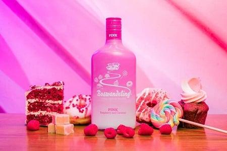 Boswandeling Pink Raspberry En Caramal Fles 70 Cl.