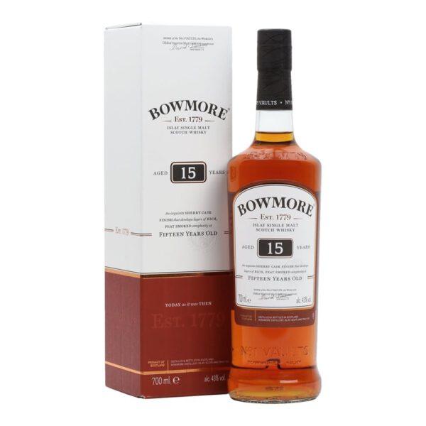 Bowmore 15 Years Islay Single Malt Scotch Whisky Fles 70 Cl.