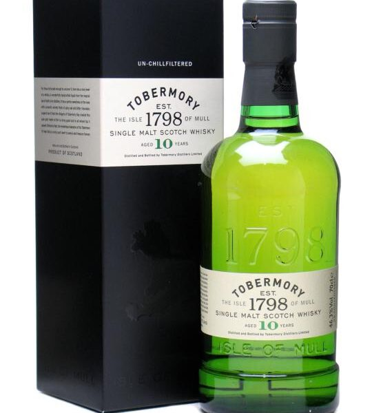 Tobermory 10 Years Single Malt Scotch Whisky Fles 70 Cl.