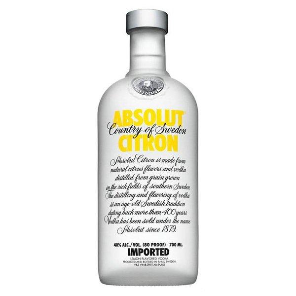 Absolut Citron Vodka Fles 70 Cl.