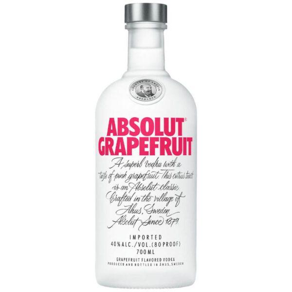 Absolut Grapefuit Vodka Fles 70 Cl.