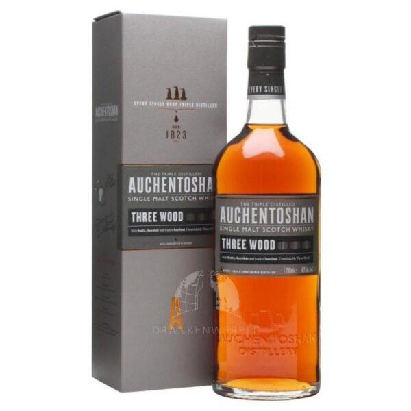 Auchentoshan Three Wood Single Malt Scotch Whisky Fles 70 Cl.