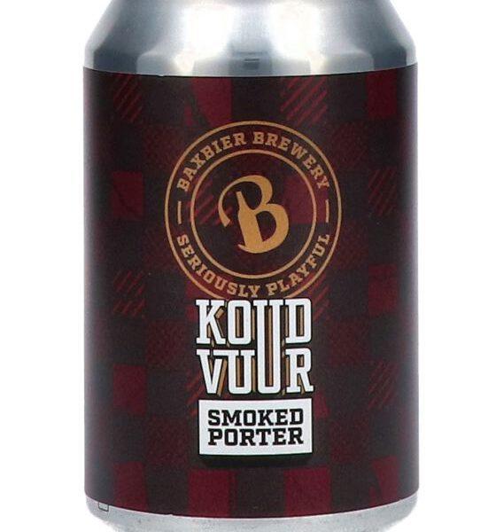 Baxbier Koud Vuur Smoked Porter Blik 33 Cl.