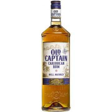 Old Captain Bruine Rum Fles 1 Ltr.