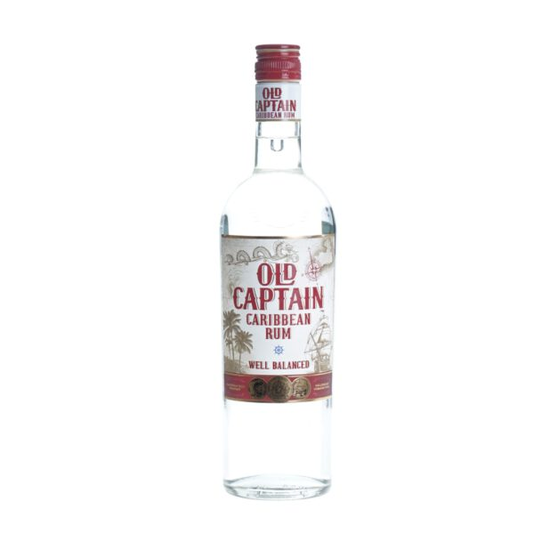 Old Captain Witte Rum Fles 1 Ltr.