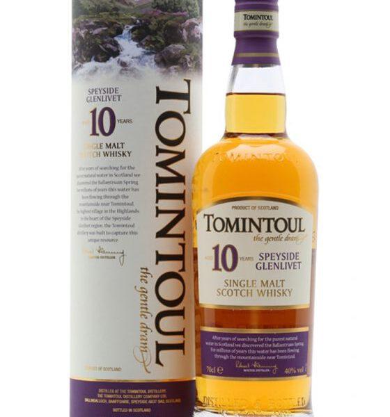 Tomintoul 10 Years Speyside Single Malt Scotch Whisky Fles 70 Cl.