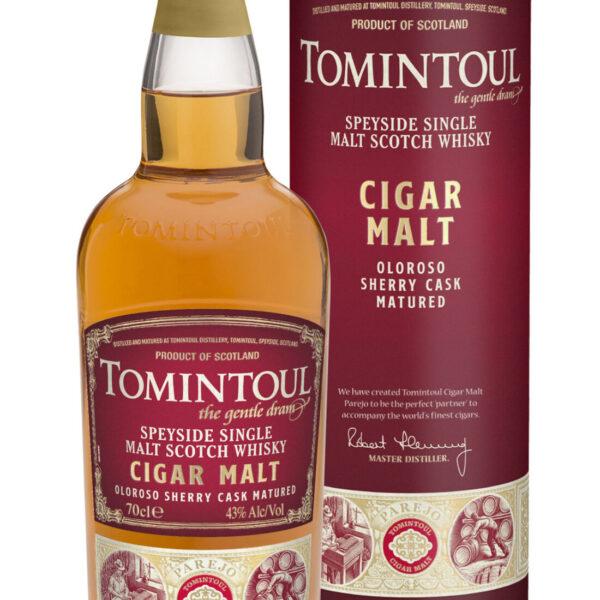 Tomintoul Cigar Malt Oloroso Sherry Cask Matured Speyside Single Malt Scotch Whisky Fles 70 Cl.